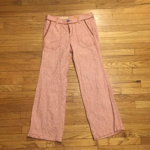 Anthropologie Pilcro red striped pants - sz 6